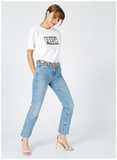 Fabrika Fabrika Beyaz Kadın Baskılı T-Shirt Beyaz